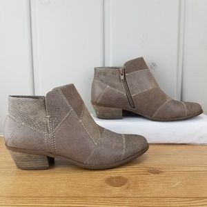 G H Bass Heeled Ankle Boots Zip Up Brown Size 7 M